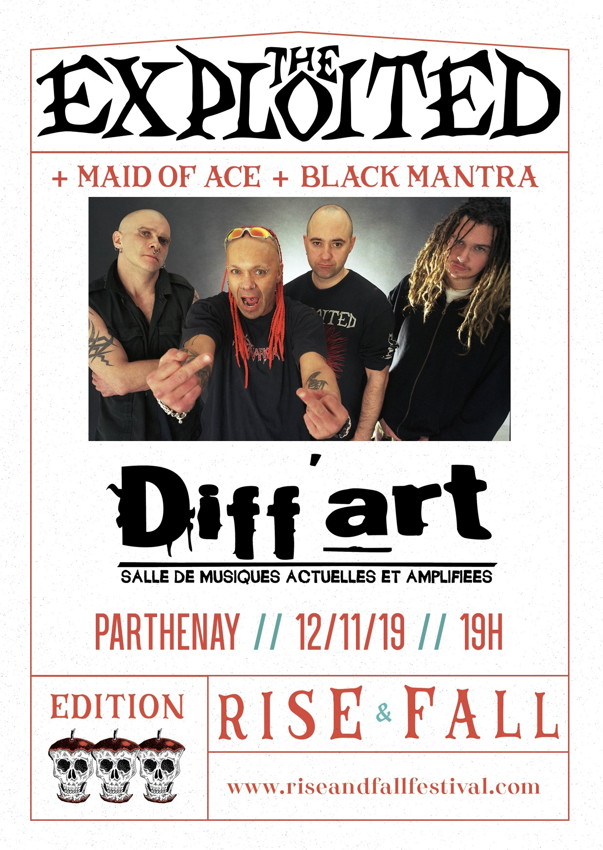 FESTIVAL RISE & FALL // THE EXPLOITED + MAID OF ACE + BLACK MANTRA